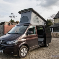 VW T5 roof raised