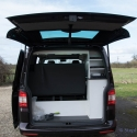 VW T5 storage cupboards at the back
