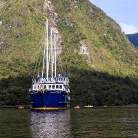 Fiordland Navigator and kyacks