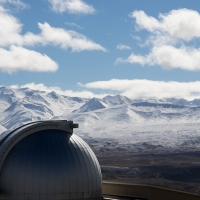 University of Canterbury Mt John Observatory, towards Mount Cook
