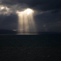 Rain clouds from Abel Tasman monument