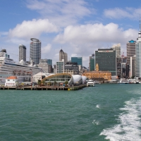 Auckland from Devonport ferry
