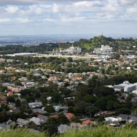 View from Mount Eden, the Auckland Domain