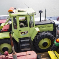 The South to North Tractor trek at Rawene Ferry