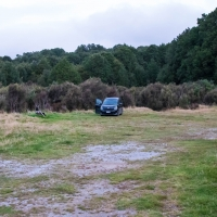 Clements Clearing campsite on the Clements Road in the Kaimanawa Forest Park