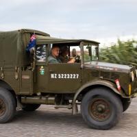 Convoy leaving Haast