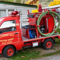 Campsite fire engine