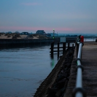 Southwold harbour at dusk