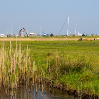 Looking from Walberswick to Southwold Harbour