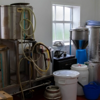 Adnams brewery, test brewery equipment