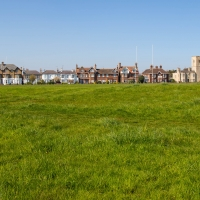 Looking across the golf course to Southwold