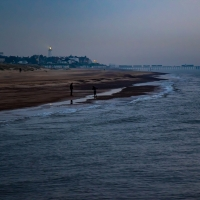 Southwold beach at dusk