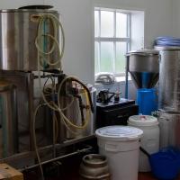 Adnams brewery, test brewery equipment