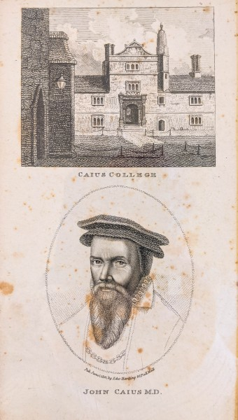 Cambridge Caius College, library
