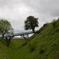 Old Sarum, bridge across the moat
