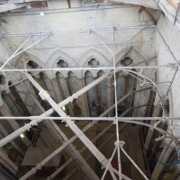 Salisbury Cathedral tower tour. Looking down