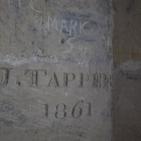Salisbury Cathedral tower tour.  Graffiti