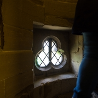 Salisbury Cathedral tower tour. On up again, this time inside the wall.