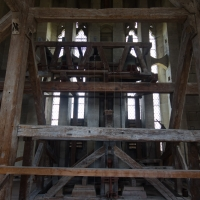 Salisbury Cathedral tower tour. The actual chimes on the next floor up.