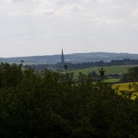 Cambridge Society, Clarendon Palace Ruins, Salisbury. View of Salisbury.