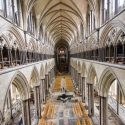 Salisbury Cathedral tower tour, view of the knave