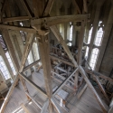 Salisbury Cathedral tower tour.Now going up again to the base of the spire