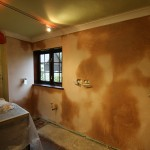 Plaster drying out