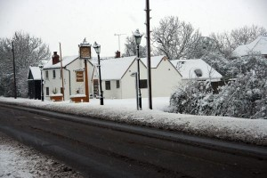 Plough and Anchor, Kingswood, Buckinghamshire on the 6th January 2010 after overnight snow fall of 6 inches.