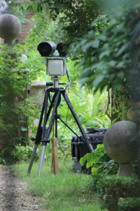 Tony Blair's spy camera, monitoring who enters by the back gate.