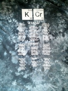 King Crimson Tee Shirt, The Back