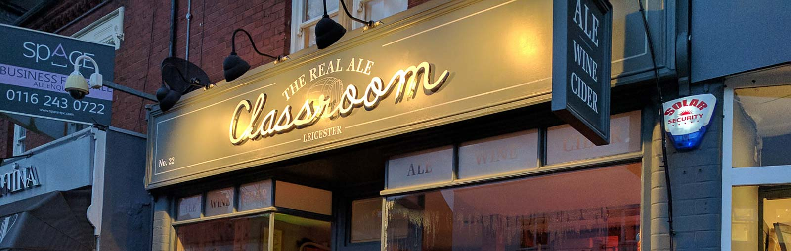 Leicester The classromm real ale pub