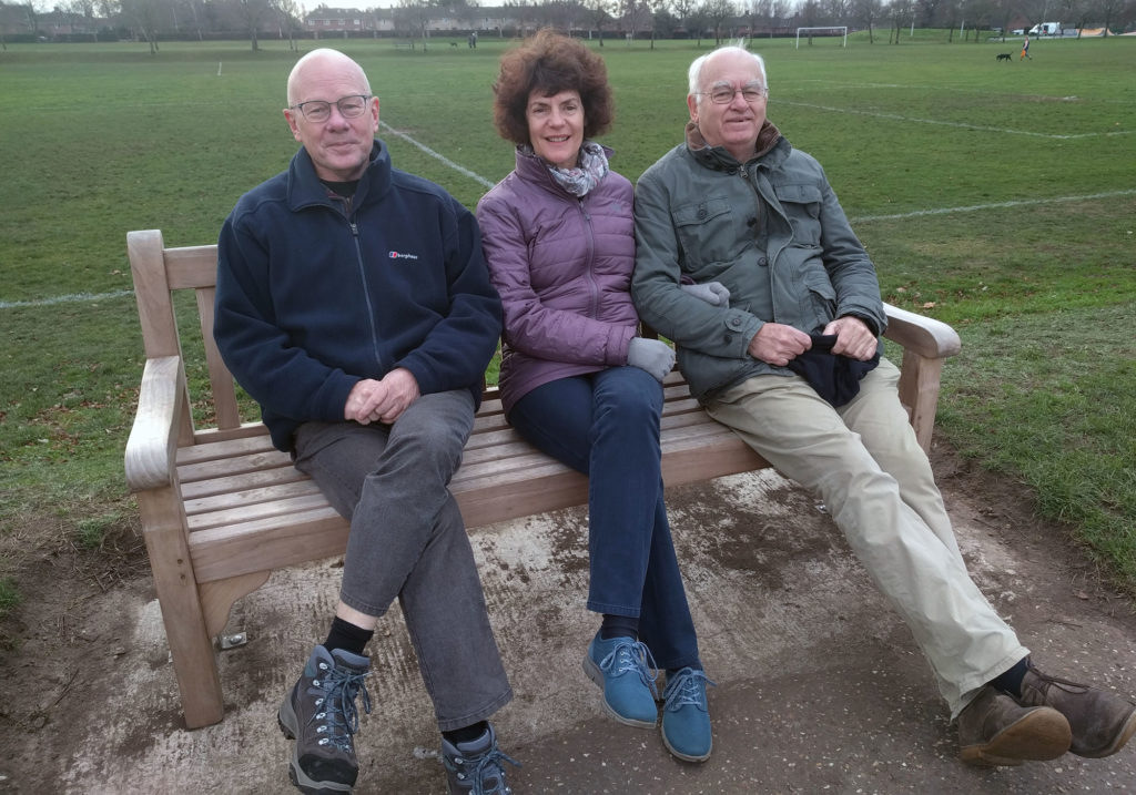 Steve, Lizzie and Bob in Eaton Park, Norwich