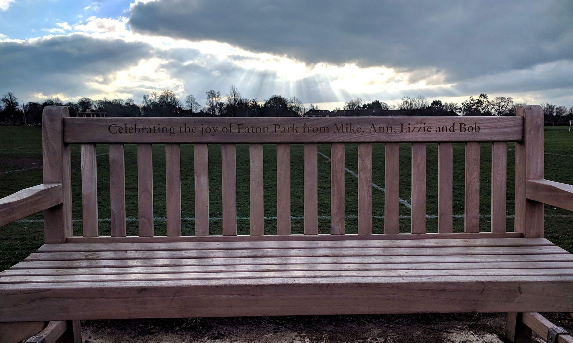 Park Bench in Eaton Park, Norwich
